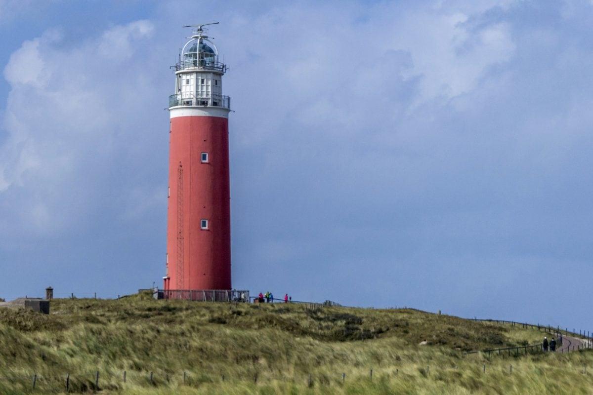 blue sky, lighthouse, tower, beacon, structure, sea, coast, ocean
