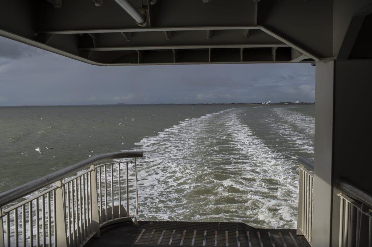 water, sea, ship deck, ocean, boat, fence, wave