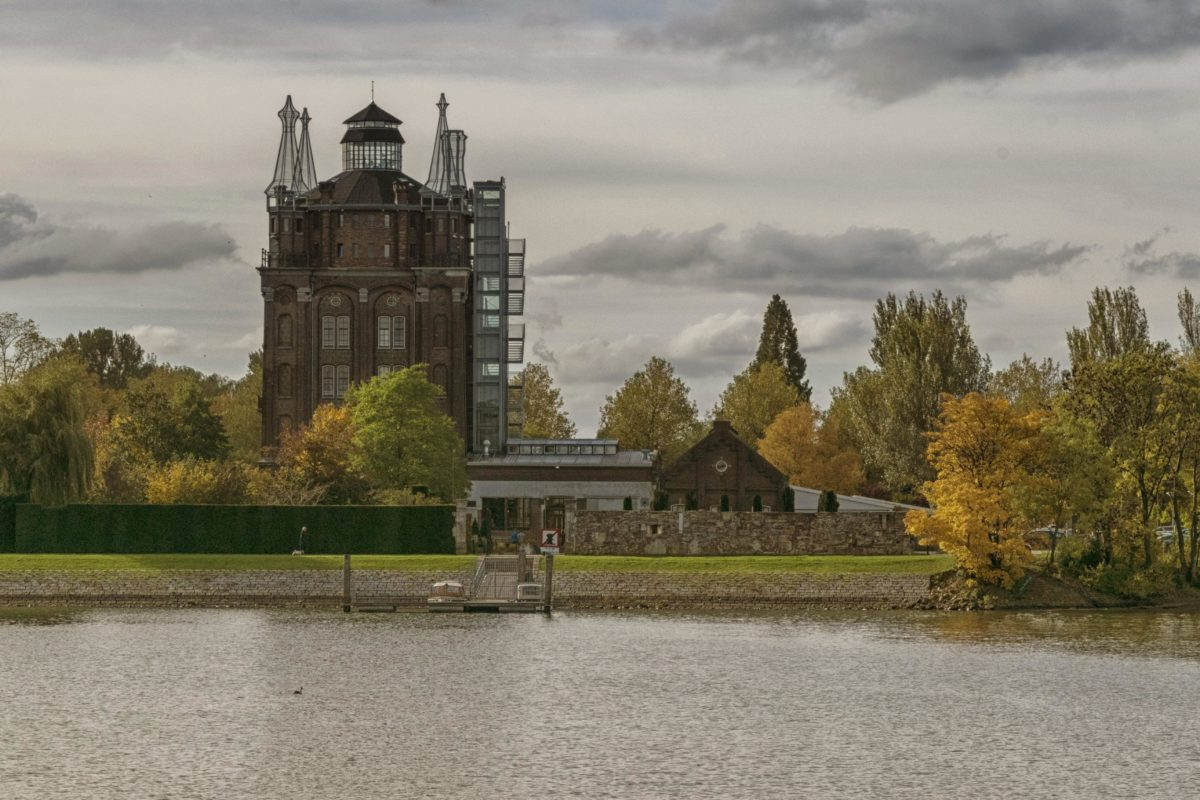castle, tree, river, architecture, ecterior, palace, tower