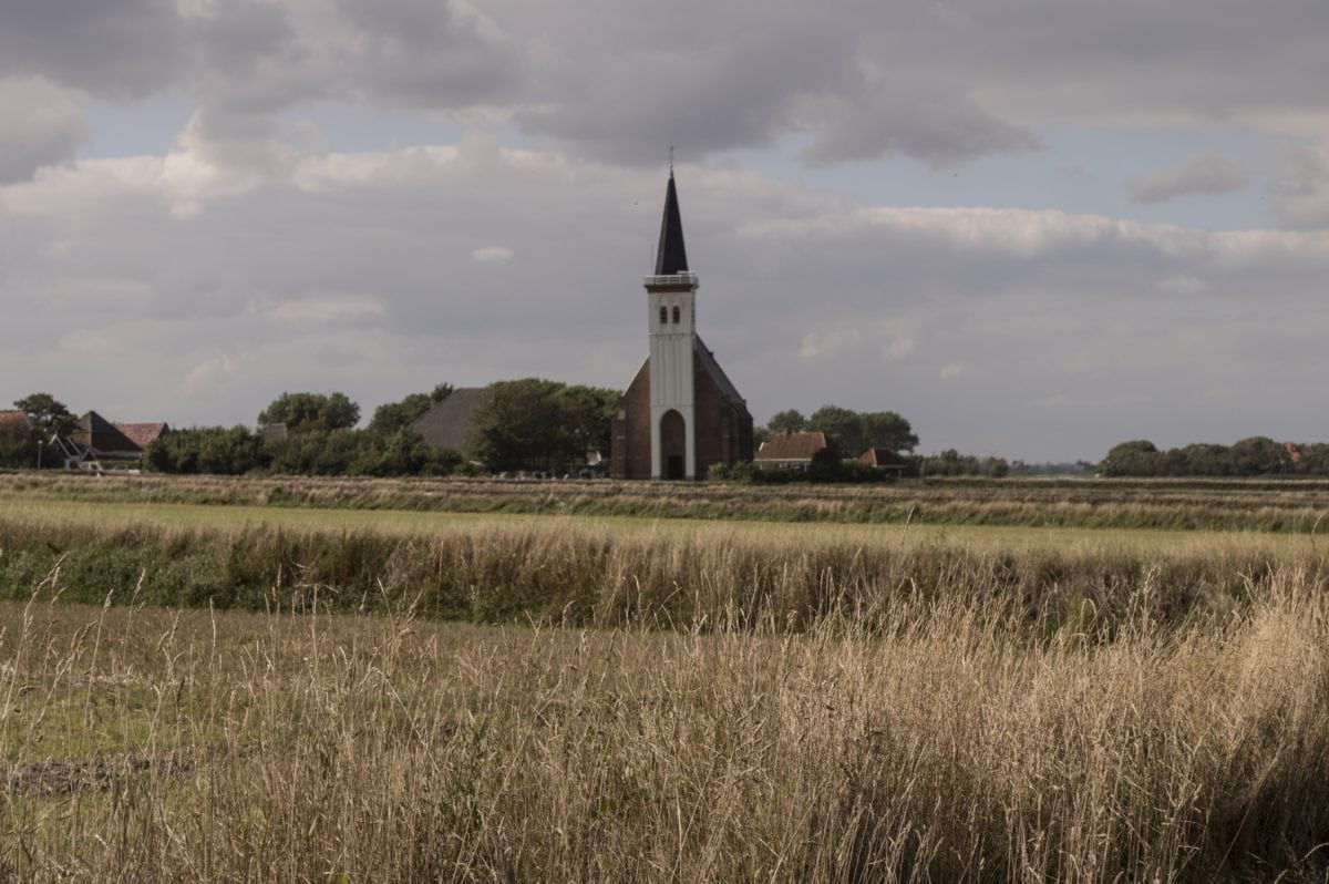 landscape, sky, church tower, structure, church, grass, outdoor