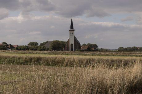 пейзаж, небо, Церковная башня, структура, Церковь, трава, на открытом воздухе