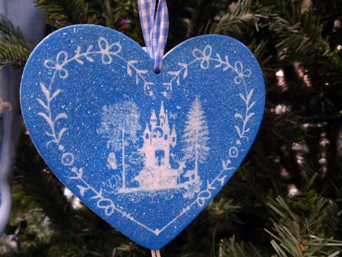 blue heart, Christmas tree, decoration, object, love