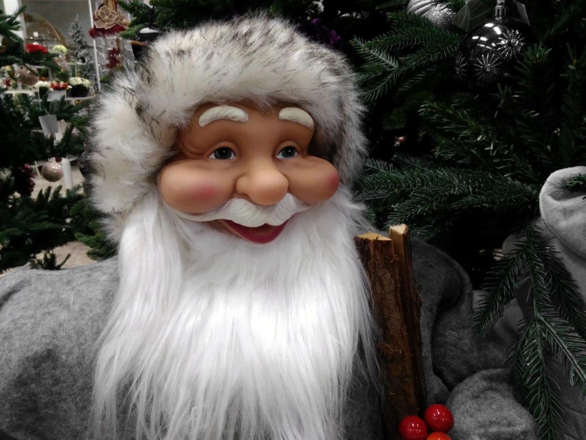 Santa Claus, jul, portræt, dukke, hat, ansigt, cute, Object, legetøj