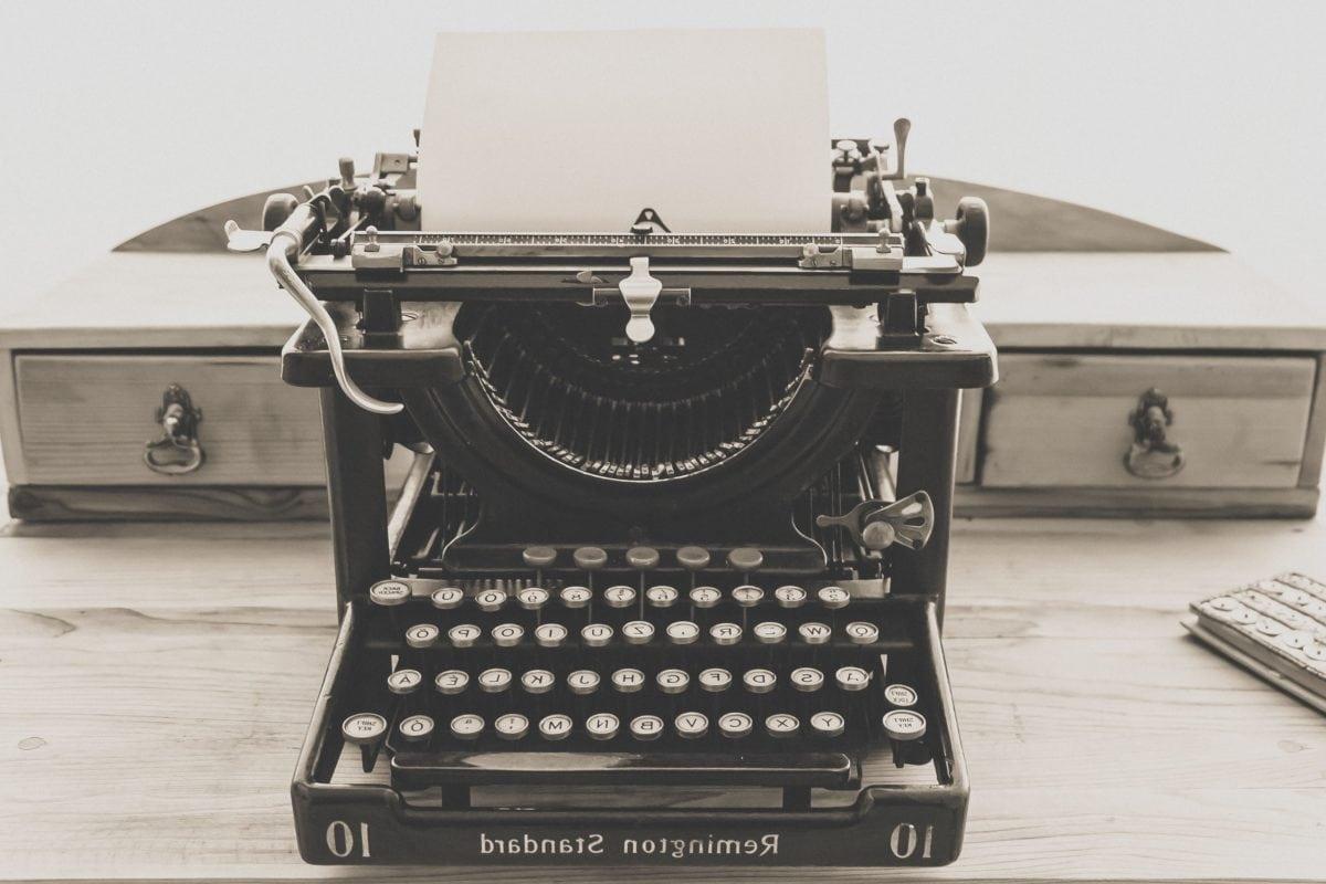 retrò, tecnologia, antiquariato, seppia, monocromatico, oggetto, macchina da scrivere, tastiera