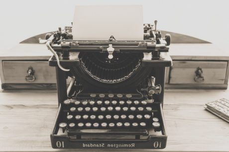retro, technology, antique, sepia, monochrome, object, typewriter, keyboard