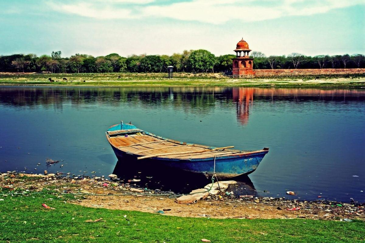 boat, water, lake, watercraft, lakeside, shore, sky