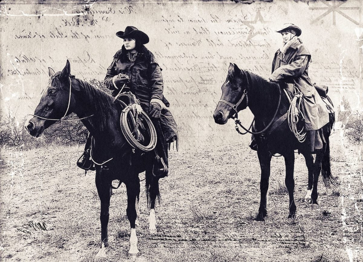 hewan, orang, kavaleri, kuda, pelana, sejarah, monokrom, sepia, koboi, wanita
