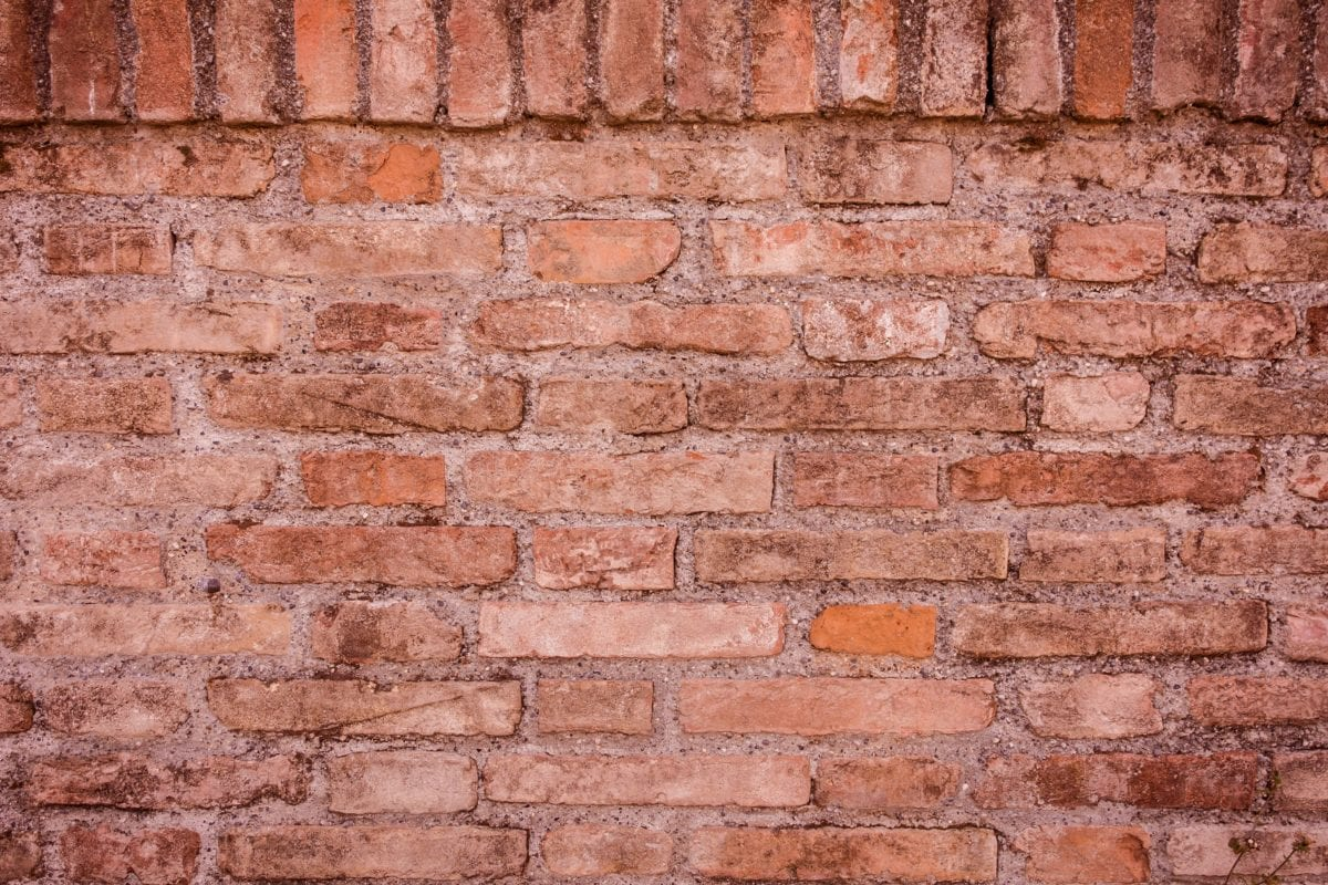 old, brick wall, cement, solid, texture, wall, concrete
