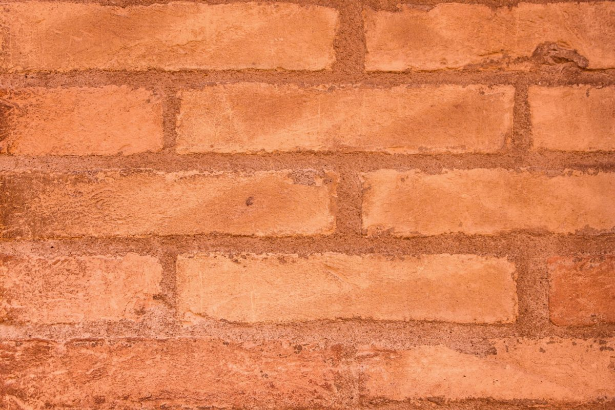 brick wall, cement, old, brown brick, detail, pattern, architecture