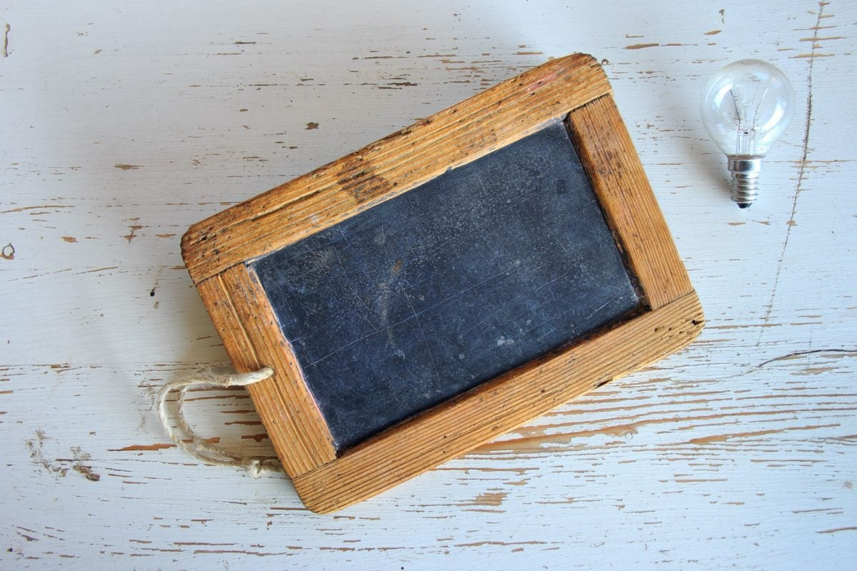 light bulb, antique, rustic, retro, texture, wood, old, chalk board