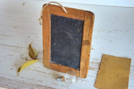 chalk board, antique, retro, texture, leaf, rustic, wood, old, light bulb