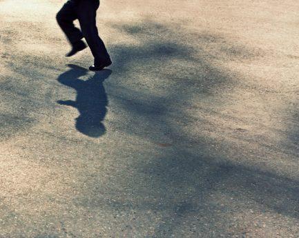 uomo, ombra, via, piede, pattino, struttura