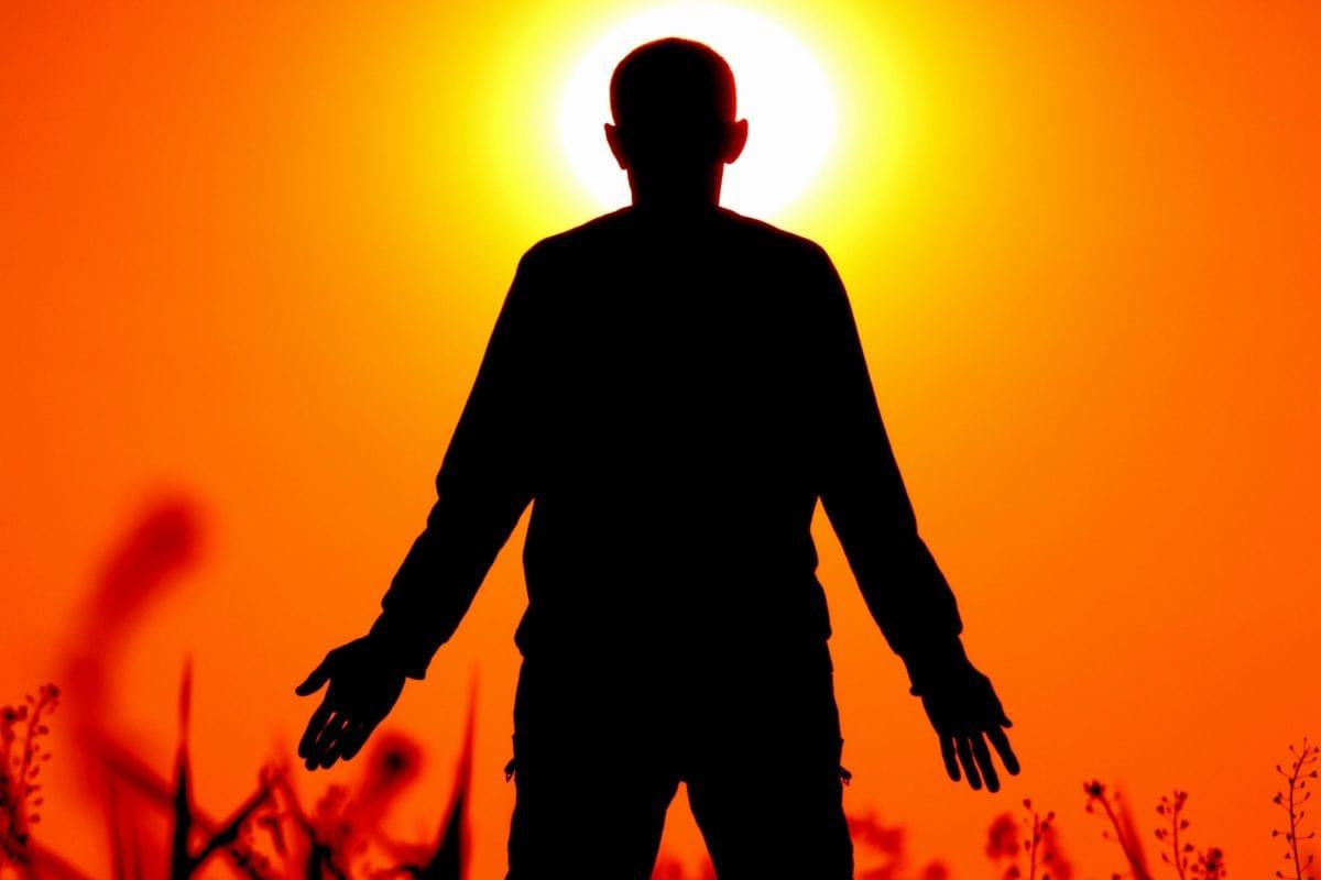 silueta, ljudi, sjena, čovjek, ruka, sunce