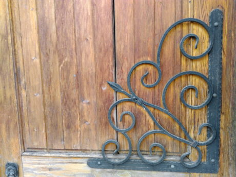 gate, old, wood, entrance, front door, cast iron, design, wooden, retro