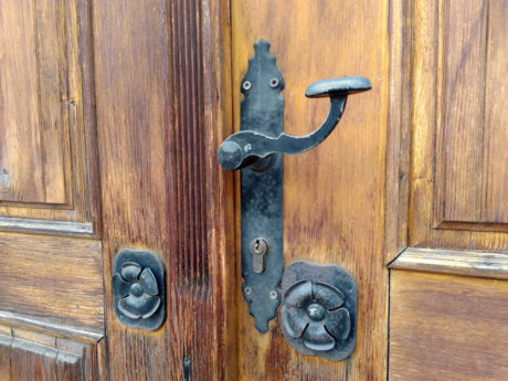 wood, doorway, gate, door, wooden, entrance, doorknob, keyhole