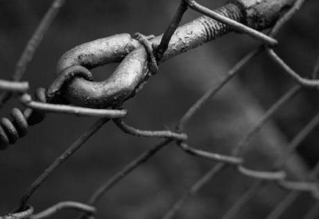 fence, steel, monochrome, chain, wire, security, detail, cage, iron