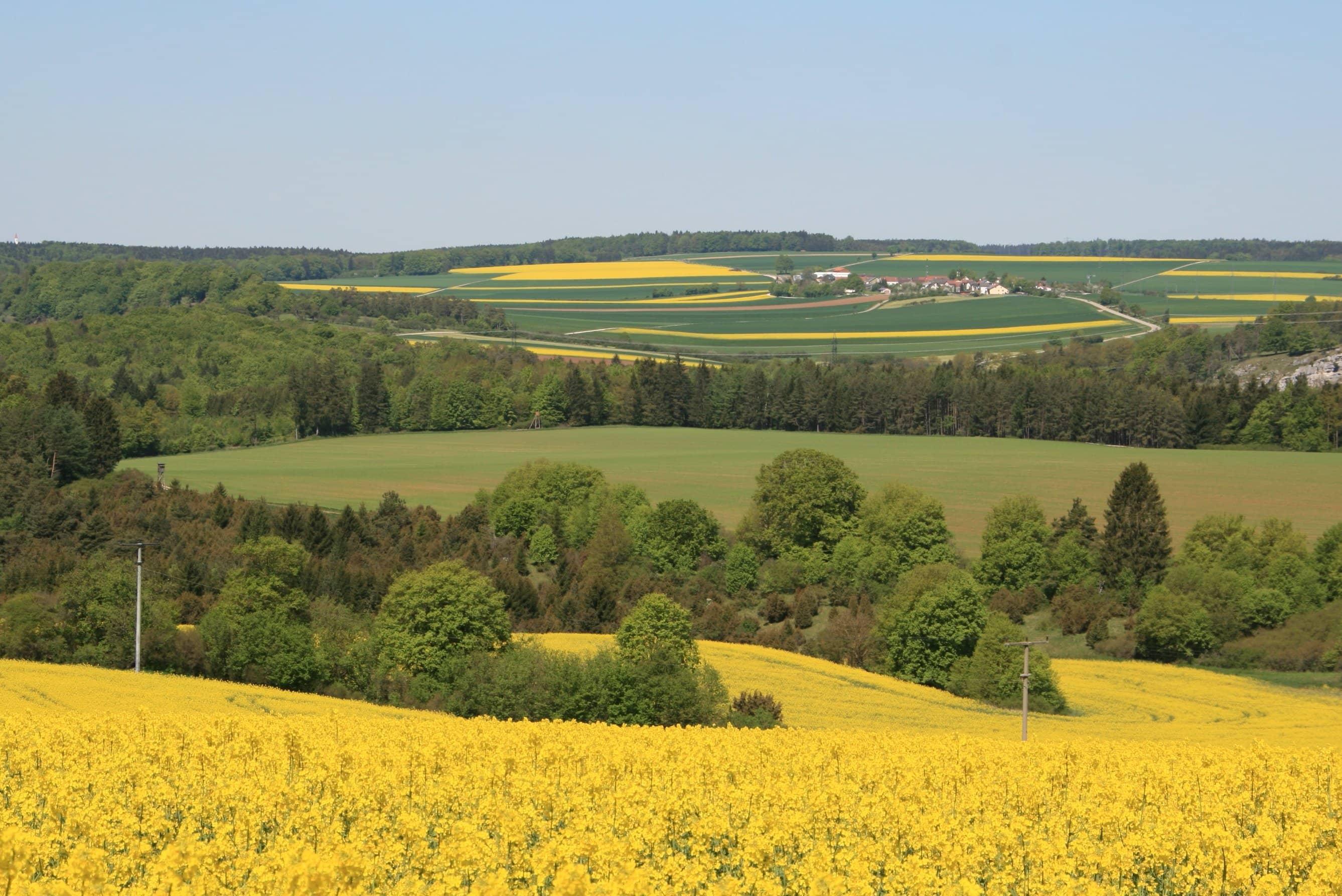 Gambar Gratis Lanskap Langit Bidang Pertanian Bukit Pedesaan