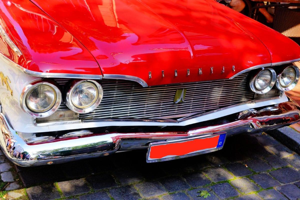veicolo, auto d'epoca, Faro, automotive, paraurti auto, retrò, cromo, pneumatico