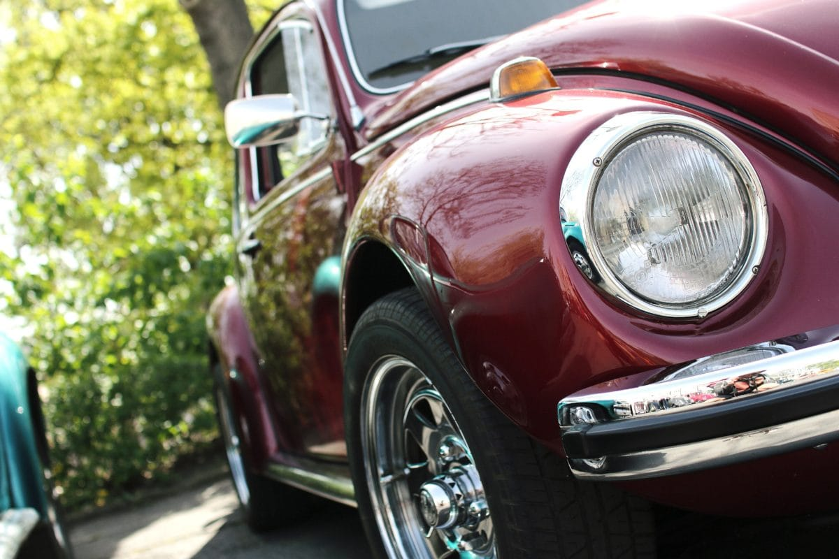 impulsión, cromo, coche clásico, linterna, vehículo, automóvil, coche del sedán
