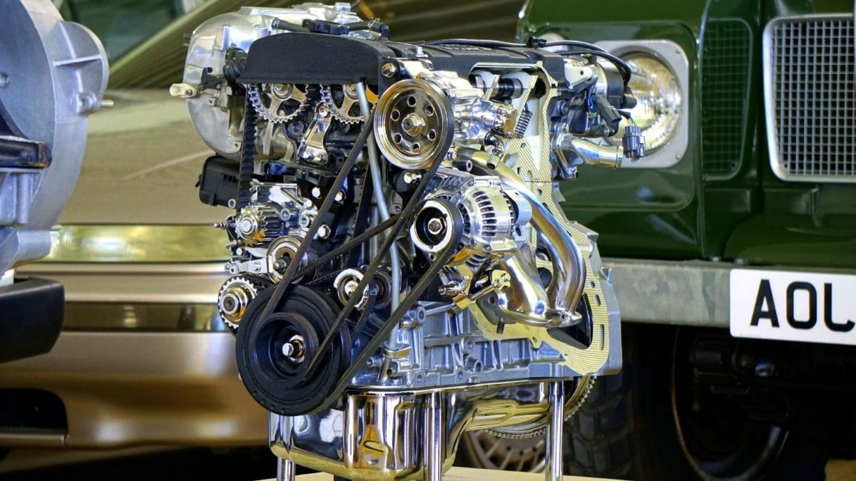 chrome, car engine, garage, vehicle, metal part, machine, fuel, diesel engine