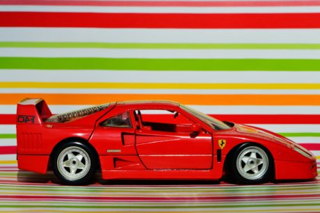 automobile del giocattolo, Automotive rosso, azionamento, veicolo, rotella, auto, automobile