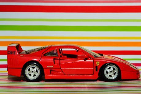 играчка автомобил, червен автомобилна, карам, превозно средство, колело, автомобил, автомобил