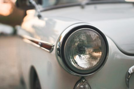 old car, vehicle, headlight, automobile, transportation, nostalgia