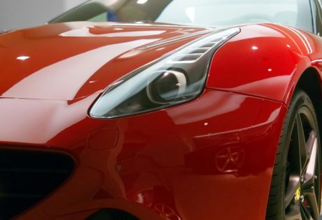 headlight, vehicle, expensive, red car, auto, automobile, car show
