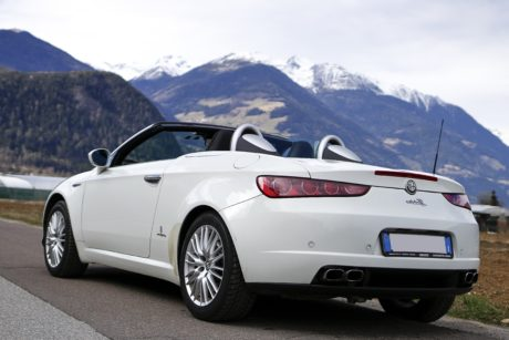 coupe car, vehicle, convertible, expensive automobile, transportation, mountainside