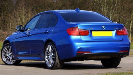 coche azul, rueda, vehículo, automóvil, automóvil, transporte, asfalto
