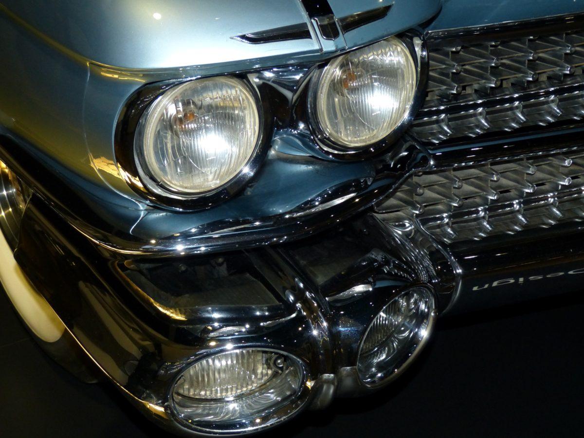 classic car, vehicle, headlight, drive, chrome, bumper, automobile