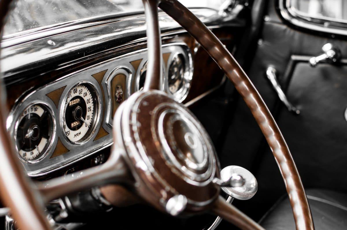 стар таймер кола, колело, превозно средство, диск, хром, контрол, механизъм