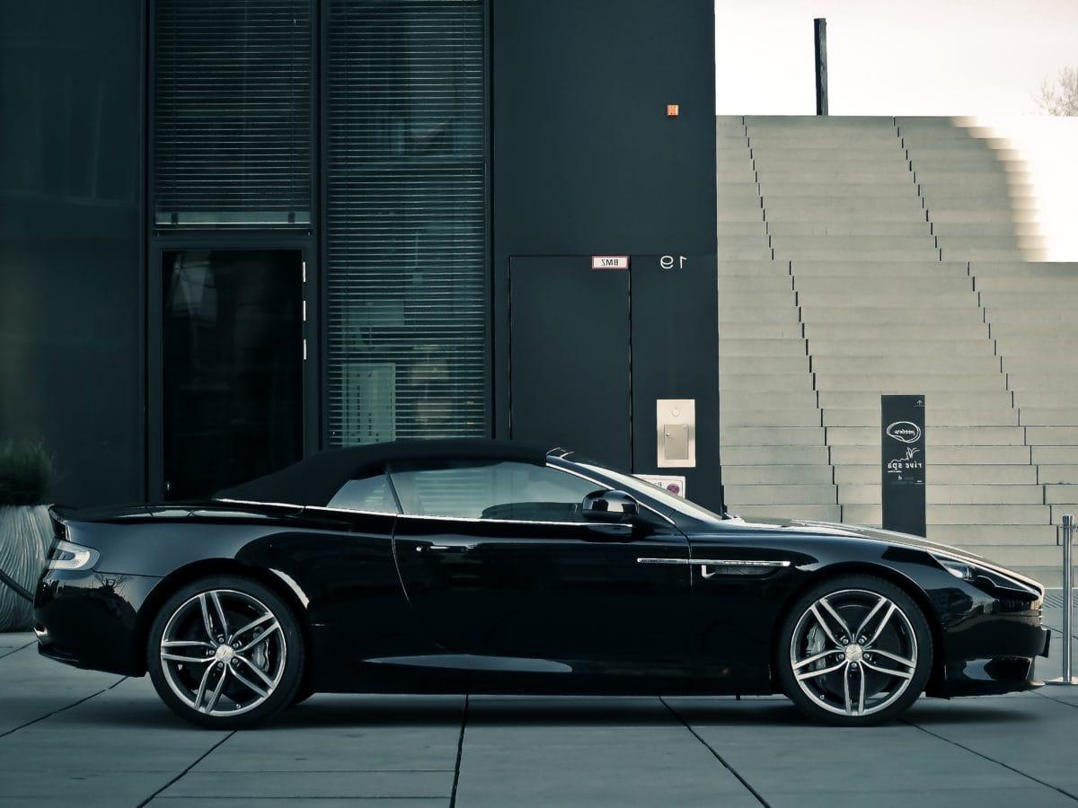 vehicle, black car, convertible, auto, luxury, expensive car, automobile, asphalt