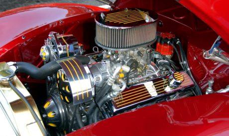véhicule, moteur de voiture, pièce en métal, chrome, garage, voiture classique, moteur diesel