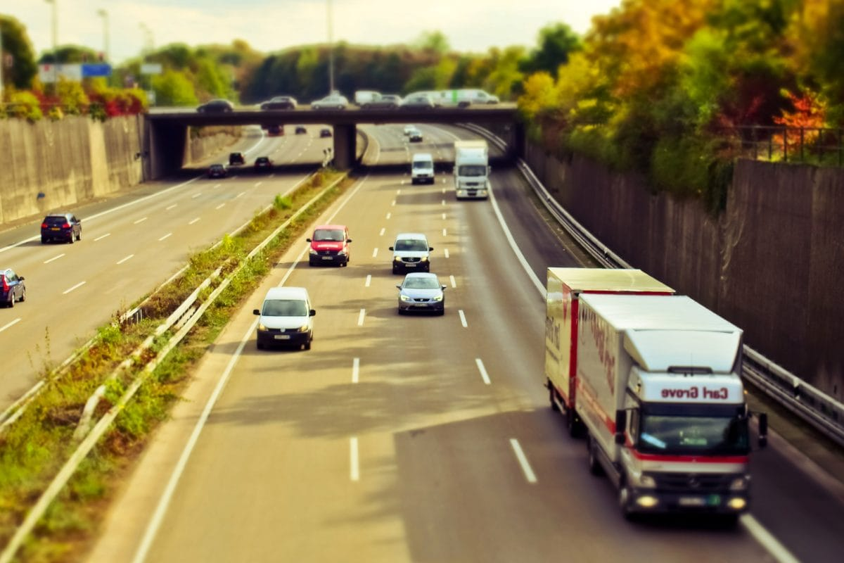 traffic, vehicle, truck, road, expressway, asphalt, highway, transportation