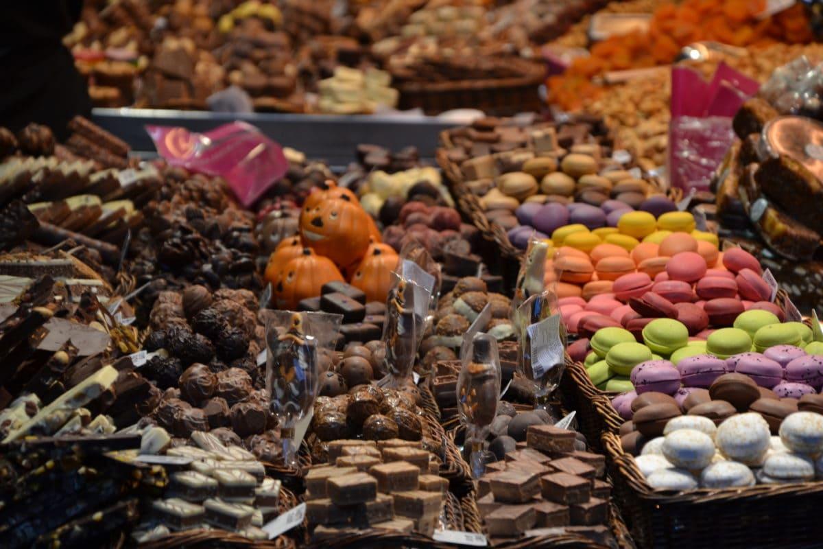 шоколадова бисквитка, вкусна, десерт, колоритен, декорация, храна