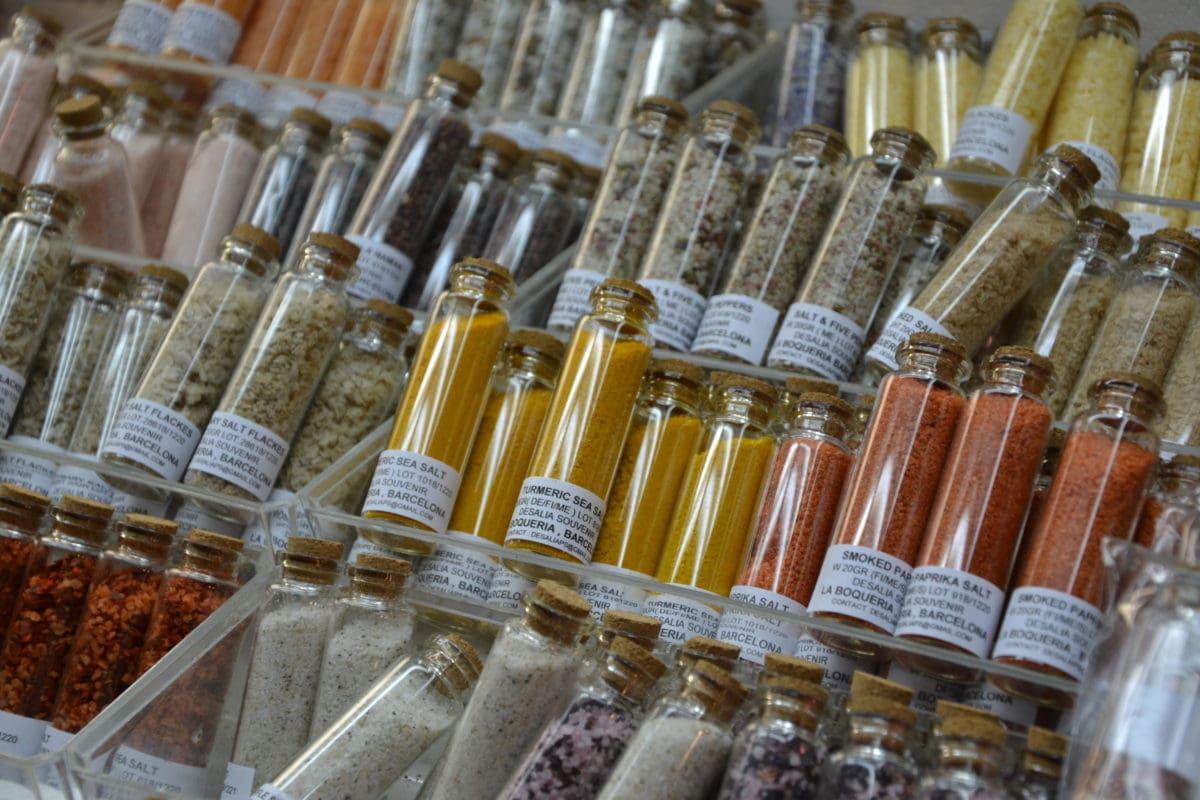 üveg, üveg, fekete bors, paprika por, bolt, fűszer, chili, finom, áru