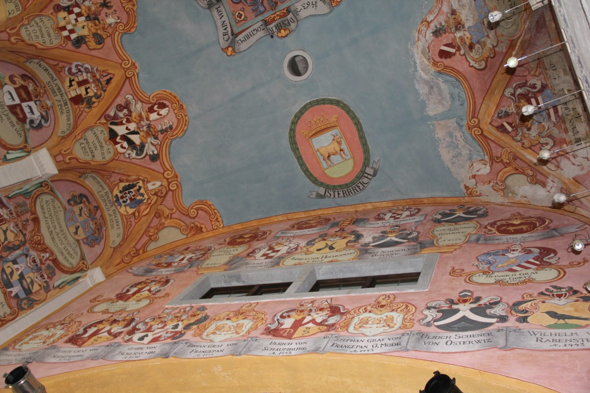 Ljubljana castle, Slovenia, fine arts, painting, ceiling, wall, interior decoration