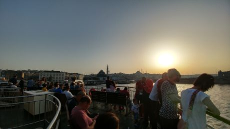 crowd, spectator, city, Istanbul, people, tourist attraction, sunset, landscape, tourism, travel