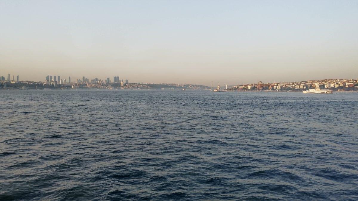 ocean, watercraft, city, town, Istanbul, harbor, sea, water, sky, coast, outdoor