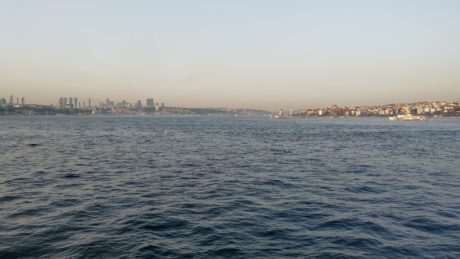 ocean, watercraft, city, town, Istanbul, harbor, sea, water, sky, coast, outdoor