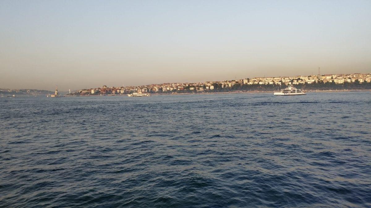 water, sunset, watercraft, sea, town, Istanbul, Turkey country, ocean, sky, coast, outdoor