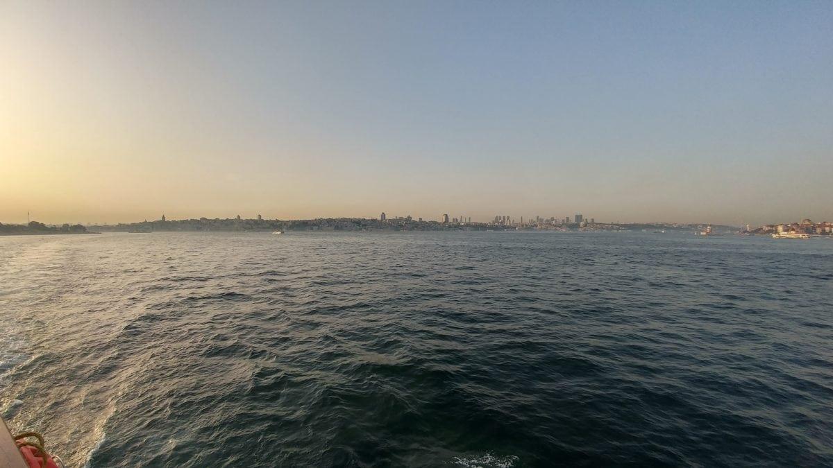 град, Истанбул, залез, зората, пейзаж, плаж, море, вода, океан, бряг