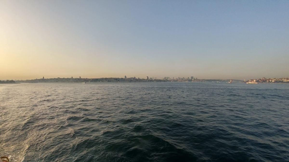 море, плаж, океан, Изгрев, град, Истанбул, пейзаж, вода, залез, бряг