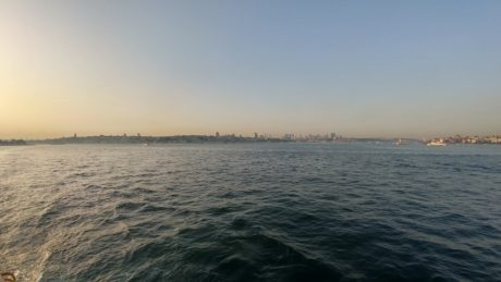 sea, beach, ocean, dawn, town, Istanbul, landscape, water, sunset, shore