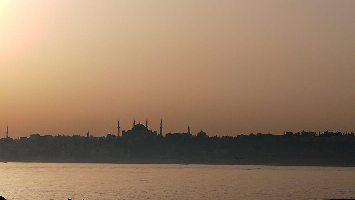 sunset, fog, lake, silhouette, shadow, sea, backlit, river, dawn, water