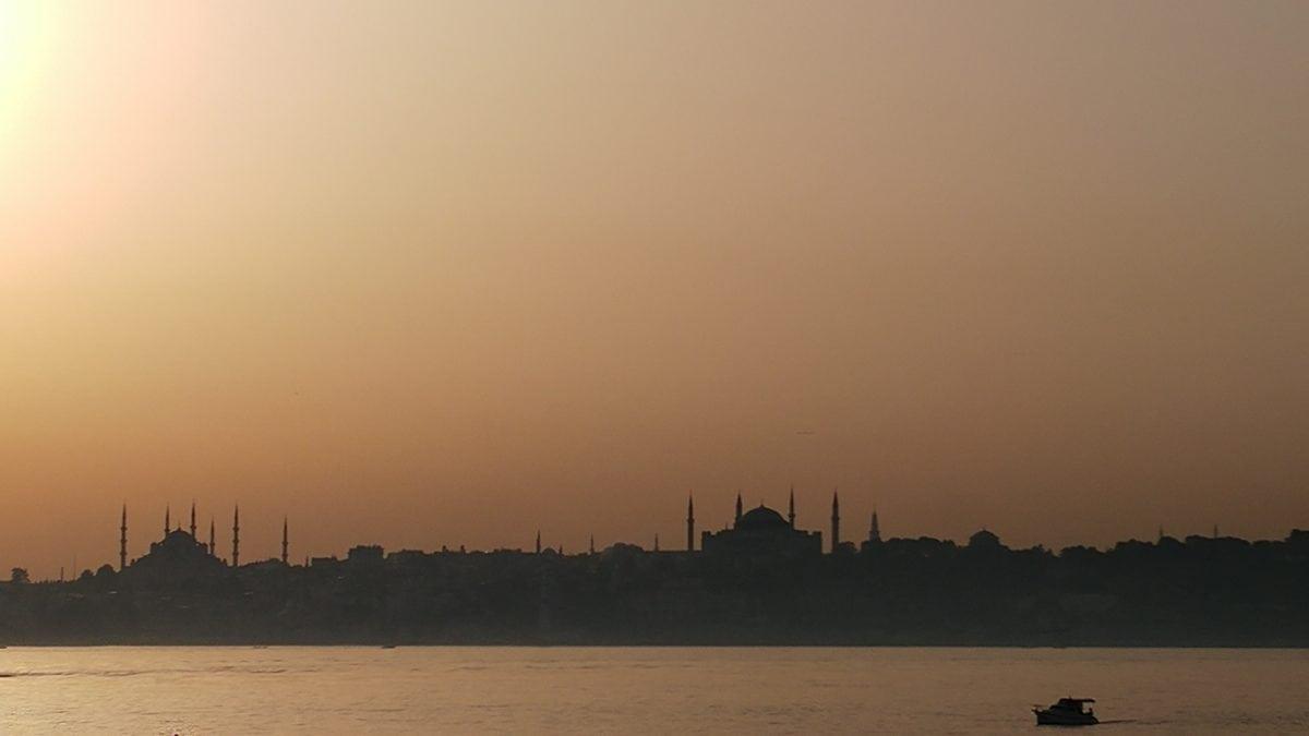 Dawn, река, залез, вода, мъгла, море, езеро, силует, осветен