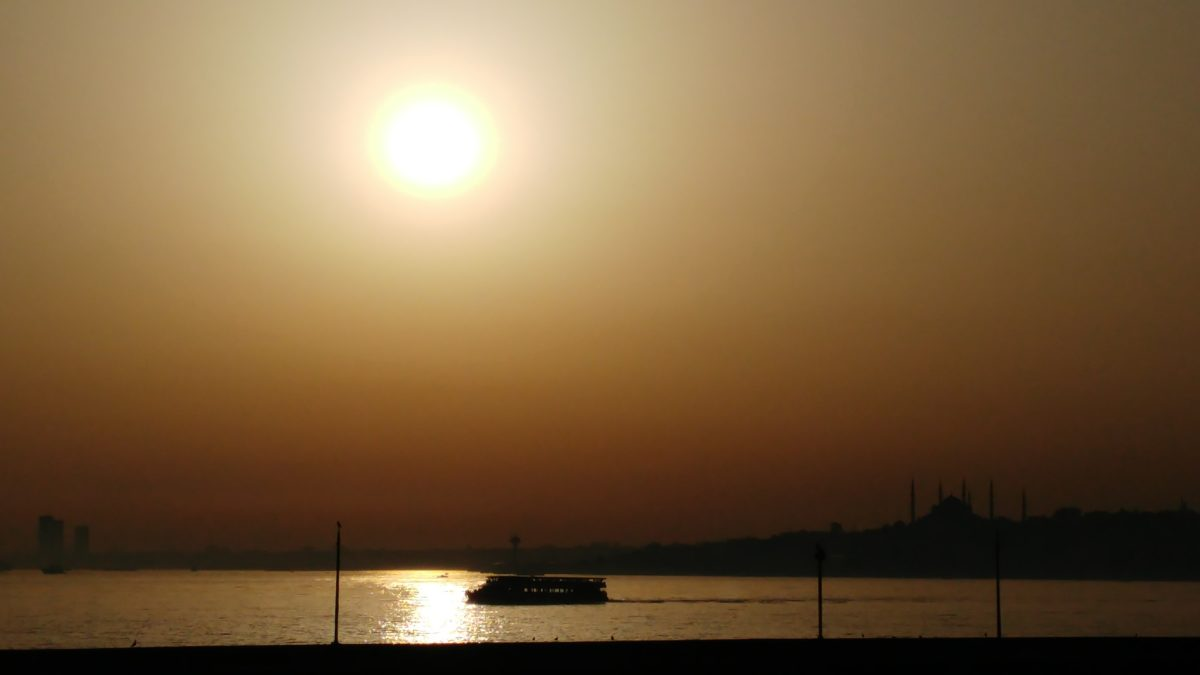 water, sea, ship, beach, silhouette, ocean, landscape, dawn, Sun, sky, sunset