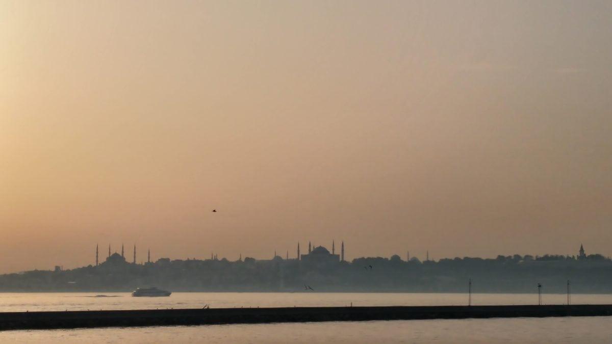 fog, sunset, lake, silhouette, water, landscape, sea, mist, dawn