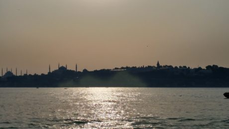 landscape, dawn, water, town, Istanbul, ocean, sunset, beach, sea, travel